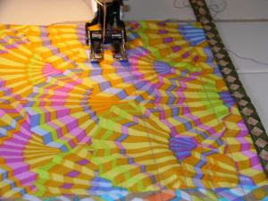 Quilting the pocket flap