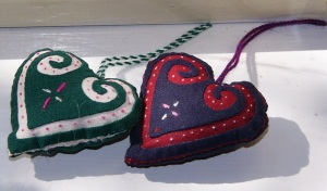 Reverse Applique Hearts