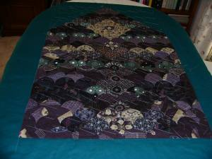 Basted and ready for quilting