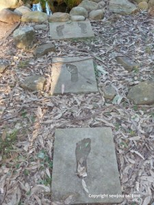 Footsteps leading to the memorial