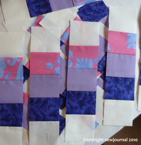 Strips for the baby quilt