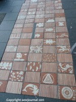 Tiled walkway in Glebe part 1