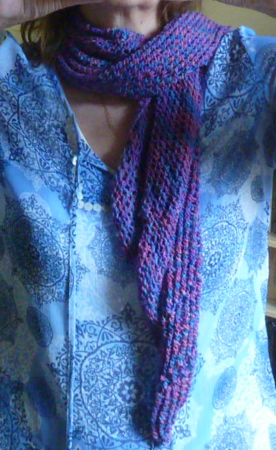 FREE KNITTING PATTERN FOR MOEBIUS SCARF   KNITTING PATTERN
