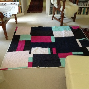 Recycled linen quilt.